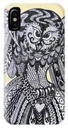Close Up Owl Cream IPhone Case