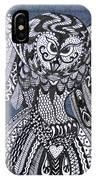 Close Up Owl Denim IPhone Case