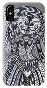 Close Up Owl Grey IPhone Case