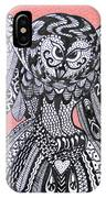 Close Up Owl Pink IPhone Case