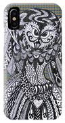 Close Up Owl Tartan IPhone Case