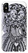 Close Up Owl White IPhone Case