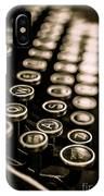 Close Up Vintage Typewriter IPhone Case