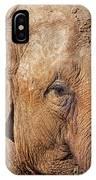 Closeup Of An Elephant IPhone Case