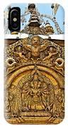 Closeup Of Carving Over Door In Bhaktapur Durbar Square In Bhaktapur-nepal IPhone Case