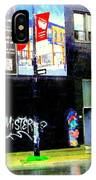 Closing Time Montreal Factory Glatts Produits Quebec Meats Graffiti Art City Scenes Carole Spandau IPhone Case
