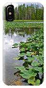 Clouds Among The Lily Pads In Swan Lake In Grand Teton National Park-wyoming  IPhone Case