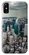 cloudy Manhattan IPhone Case
