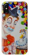 Clown And Duck With Buttons IPhone Case