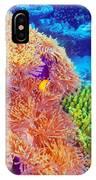 Clown Fish In Coral Garden IPhone Case