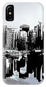 Vancouver  Canada Coal Harbour Triptych Left Panel IPhone Case
