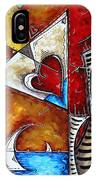 Coastal Martini Cityscape Contemporary Art Original Painting Heart Of A Martini By Madart IPhone Case