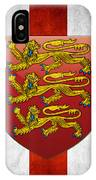 Coat Of Arms And Flag Of England IPhone Case
