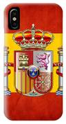 Coat Of Arms And Flag Of Spain IPhone Case
