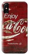 Coca Cola Red Grunge Sign IPhone Case