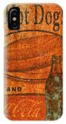 Coca Cola Rusty Sign IPhone Case