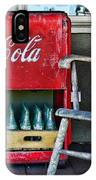 Coca Cola Vintage Cooler And Rocking Chair IPhone Case