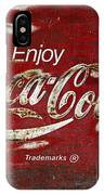Coca Cola Wood Grunge Sign IPhone Case