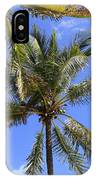Cocoanut Palm Trees Sky Background IPhone Case