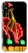 Cody Wyoming Neon Lounge Sign At Night IPhone Case