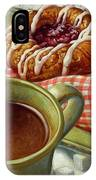 Coffee And Danish IPhone Case