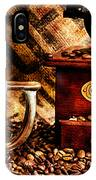 Coffee Beans And Grinder Closeup IPhone Case
