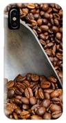 Coffee Beans With Scoop IPhone Case