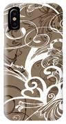 Coffee Flowers 1 IPhone Case
