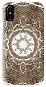 Coffee Flowers 1 Ornate Medallion IPhone Case
