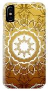 Coffee Flowers 1 Ornate Medallion Calypso IPhone Case