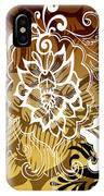 Coffee Flowers 10 Calypso IPhone Case