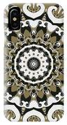 Coffee Flowers 10 Olive Ornate Medallion IPhone Case