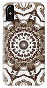 Coffee Flowers 10 Ornate Medallion IPhone Case