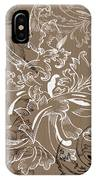 Coffee Flowers 11 IPhone Case