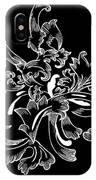 Coffee Flowers 11 Bw IPhone Case