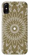 Coffee Flowers 11 Olive Ornate Medallion IPhone Case