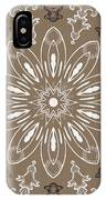 Coffee Flowers 11 Ornate Medallion IPhone Case