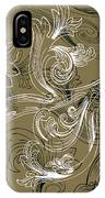 Coffee Flowers 2 Olive IPhone Case