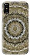 Coffee Flowers 2 Ornate Medallion Olive IPhone Case