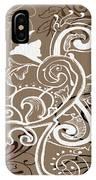 Coffee Flowers 5 IPhone Case