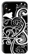 Coffee Flowers 5 Bw IPhone Case