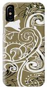 Coffee Flowers 5 Olive IPhone Case