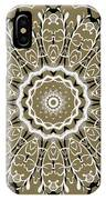 Coffee Flowers 5 Olive Ornate Medallion IPhone Case