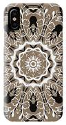 Coffee Flowers 5 Ornate Medallion IPhone Case