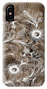 Coffee Flowers 6  IPhone Case