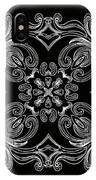 Coffee Flowers 6 Bw Ornate Medallion IPhone Case