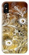 Coffee Flowers 6 Calypso IPhone Case