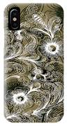 Coffee Flowers 6 Olive IPhone Case