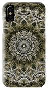 Coffee Flowers 6 Olive Ornate Medallion IPhone Case