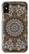 Coffee Flowers 6 Ornate Medallion IPhone Case